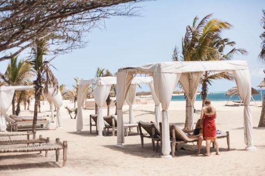 a boat trip to manda island & the most beautiful hotel I've seen
