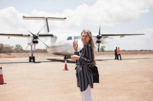 a twenty seat plane to Lamu island