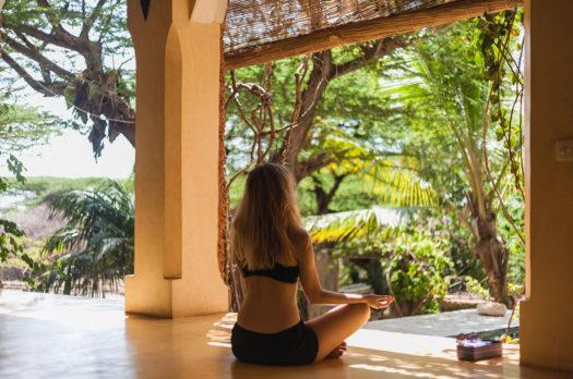yoga on a kenyan island