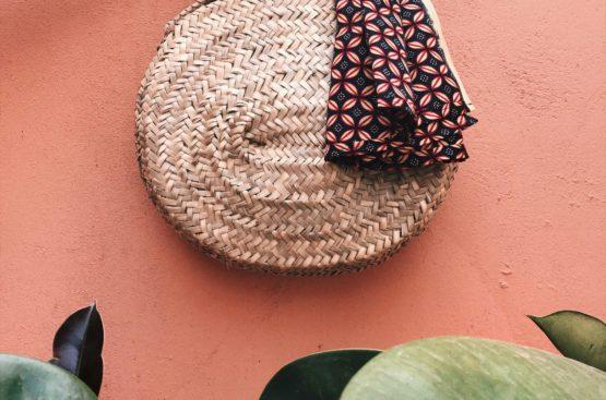 a Moroccan basket bag